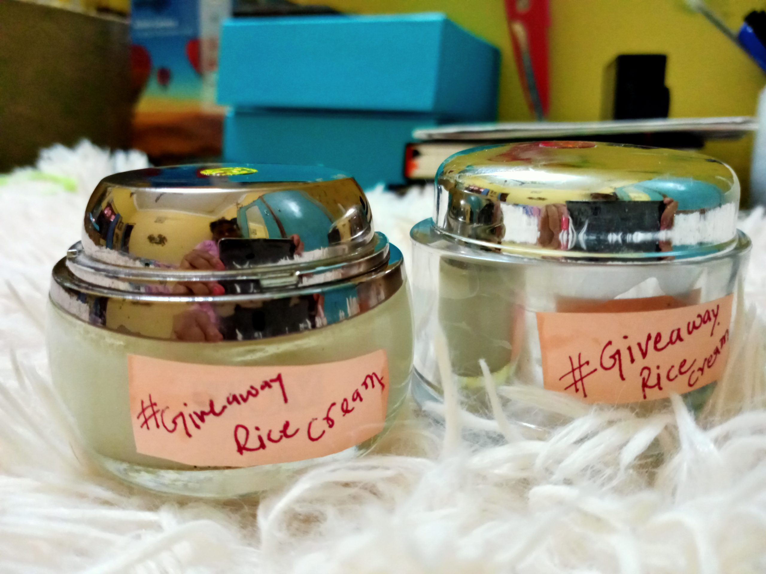 Rice cream is known for skin whitening, anti-aging, blemish free skin.